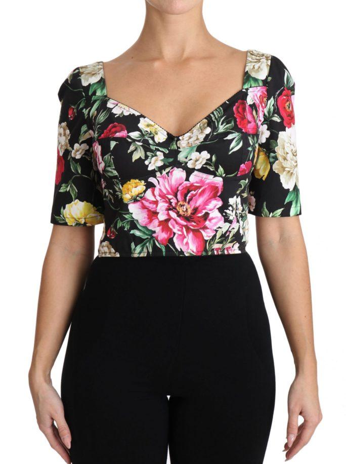 653780 Cropped Top Black Floral Cotton Blouse.jpg