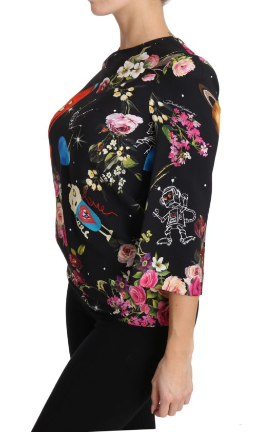 654090 Black Floral Moon Robot Rocket Top 5.jpg