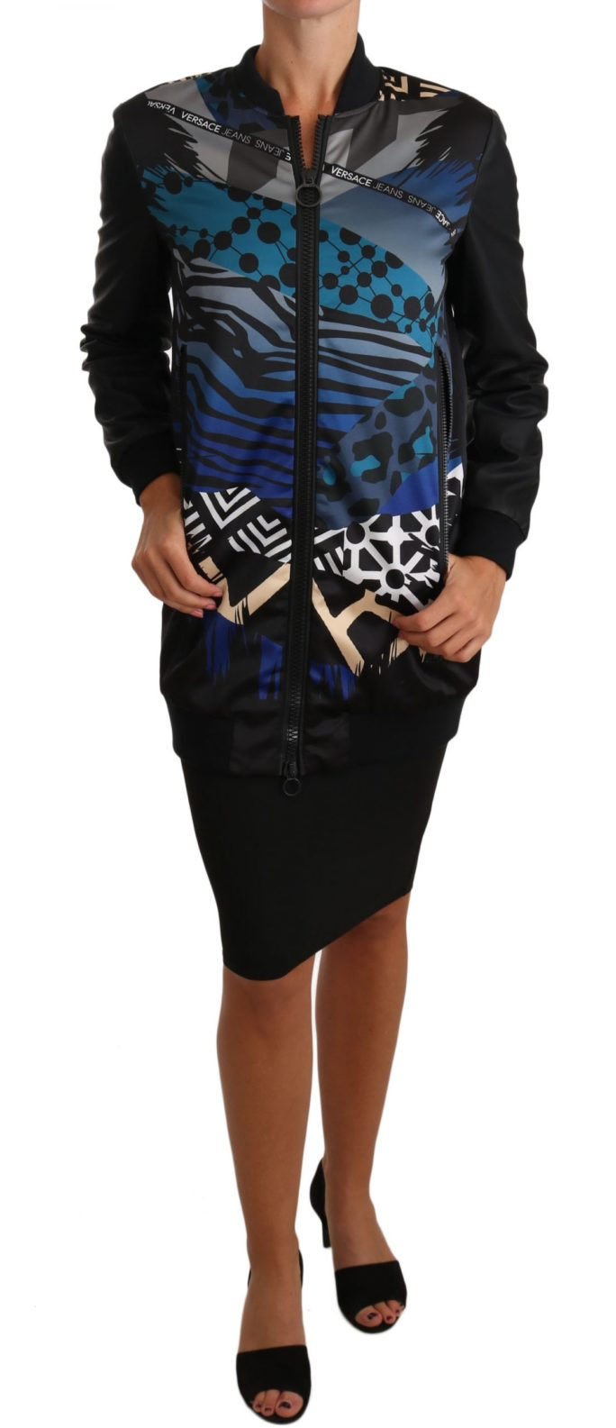 654526 Black Zip Parka Coat Blue Jacket.jpg
