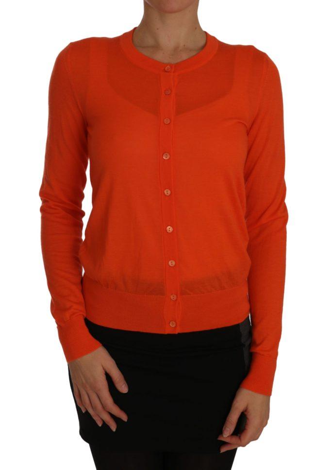 655832 Orange Cardigan Lightweight Cashmere Sweater.jpg