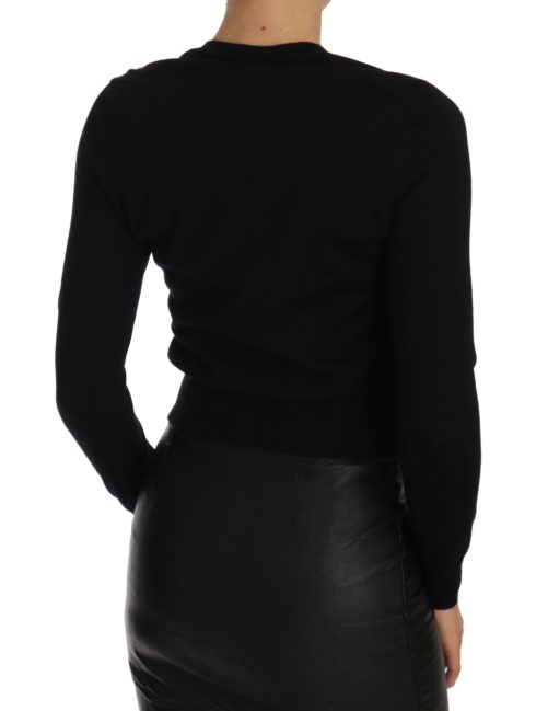 655944 Black Cardigan Floral Embroidered Sweater 2.jpg