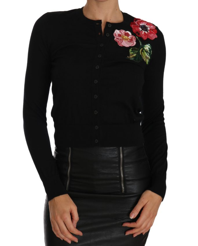 655944 Black Cardigan Floral Embroidered Sweater.jpg