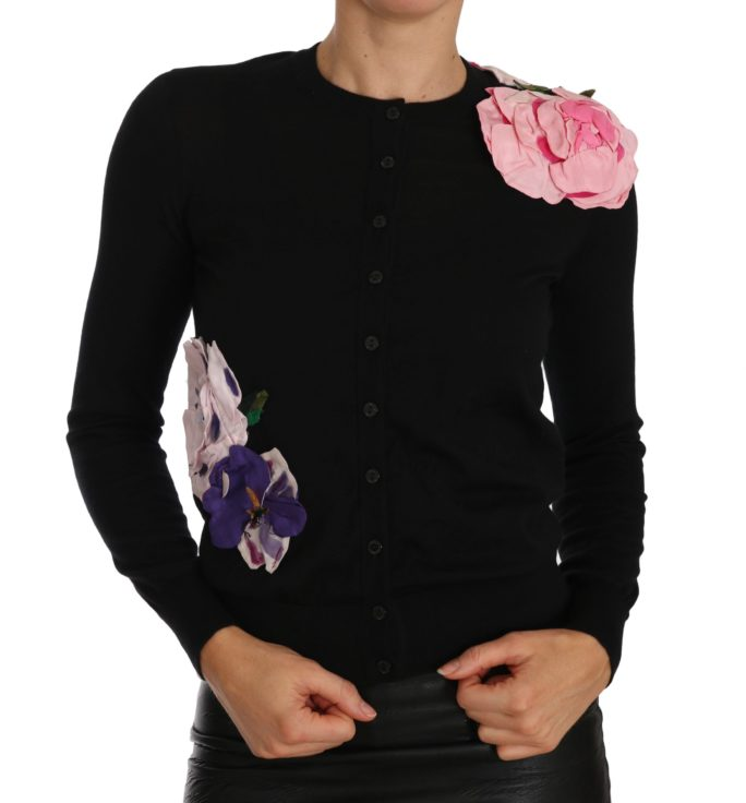 656041 Black Cashmere Cardigan Floral Sweater.jpg