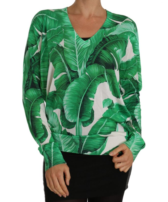 656131 Lightweight Silk Banana Leafs V Neck Sweater.jpg