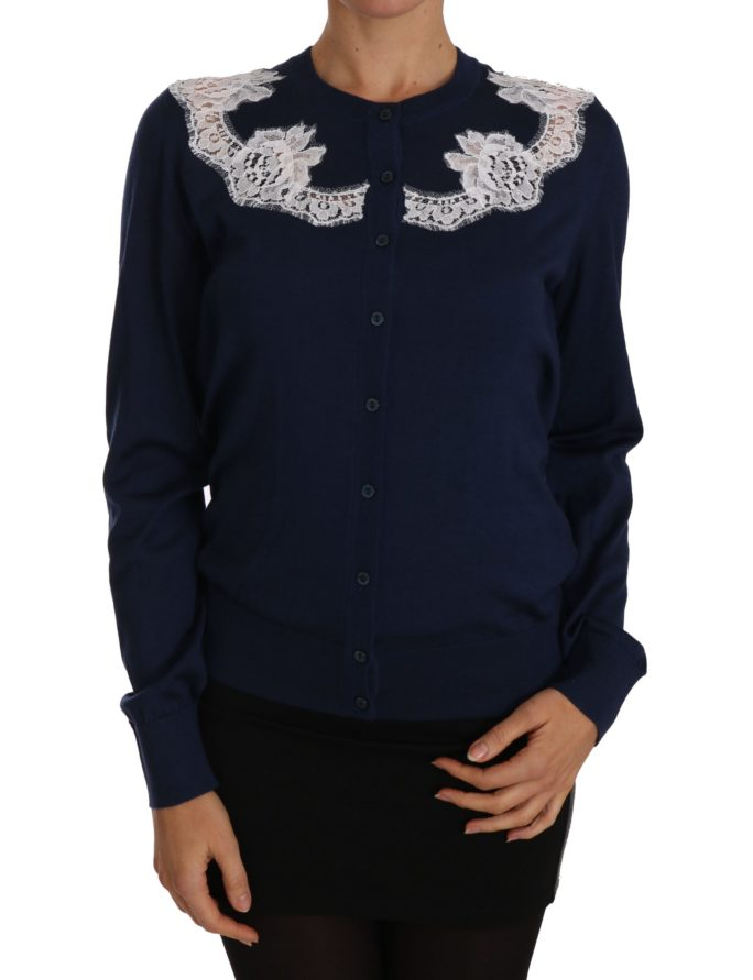 656212 Blue Cardigan Cashmere Lace Button Up Sweater.jpg