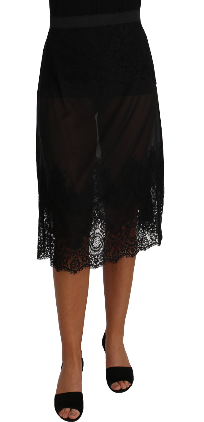656964 Black Silk Lace Floral Skirt.jpg