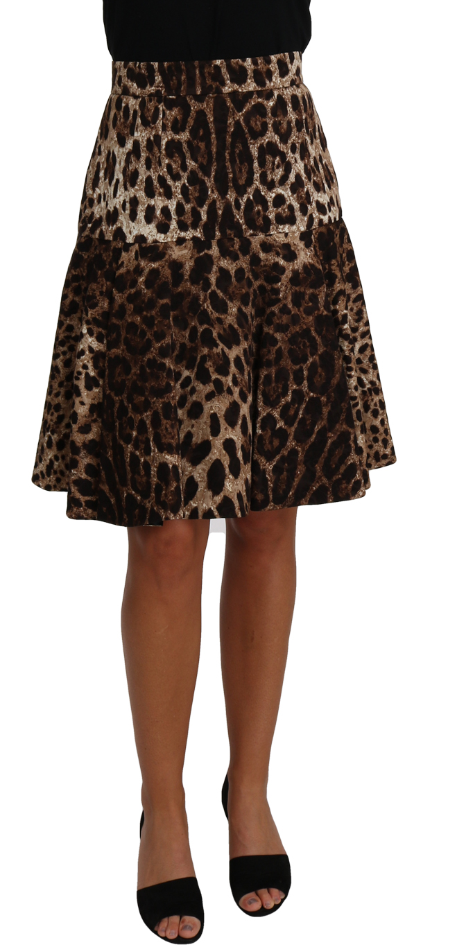657004 Brown A Line Leopard Print Skirt.jpg