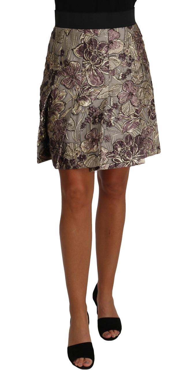 657094 A Line Mini Floral Print Jaquard Skirt.jpg