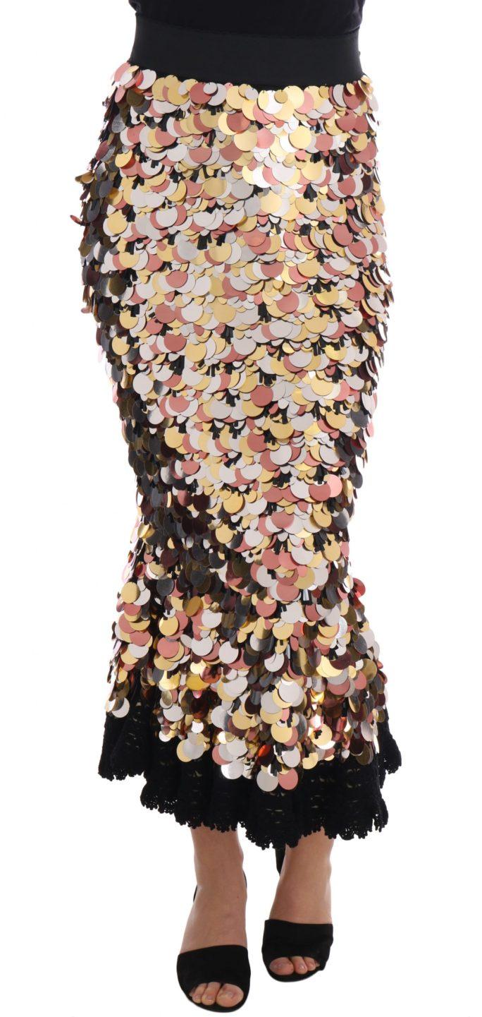 657332 Gold Sequined Peplum High Waist Skirt.jpg