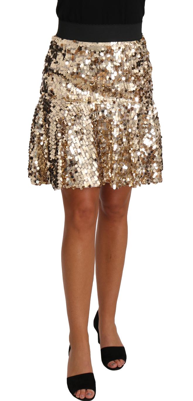 657464 Gold A Line Sequin Mini Skirt.jpg