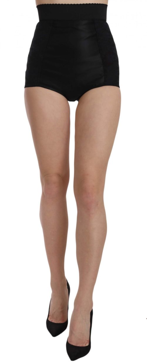 657752 Black High Waist Short Floral Shorts.jpg