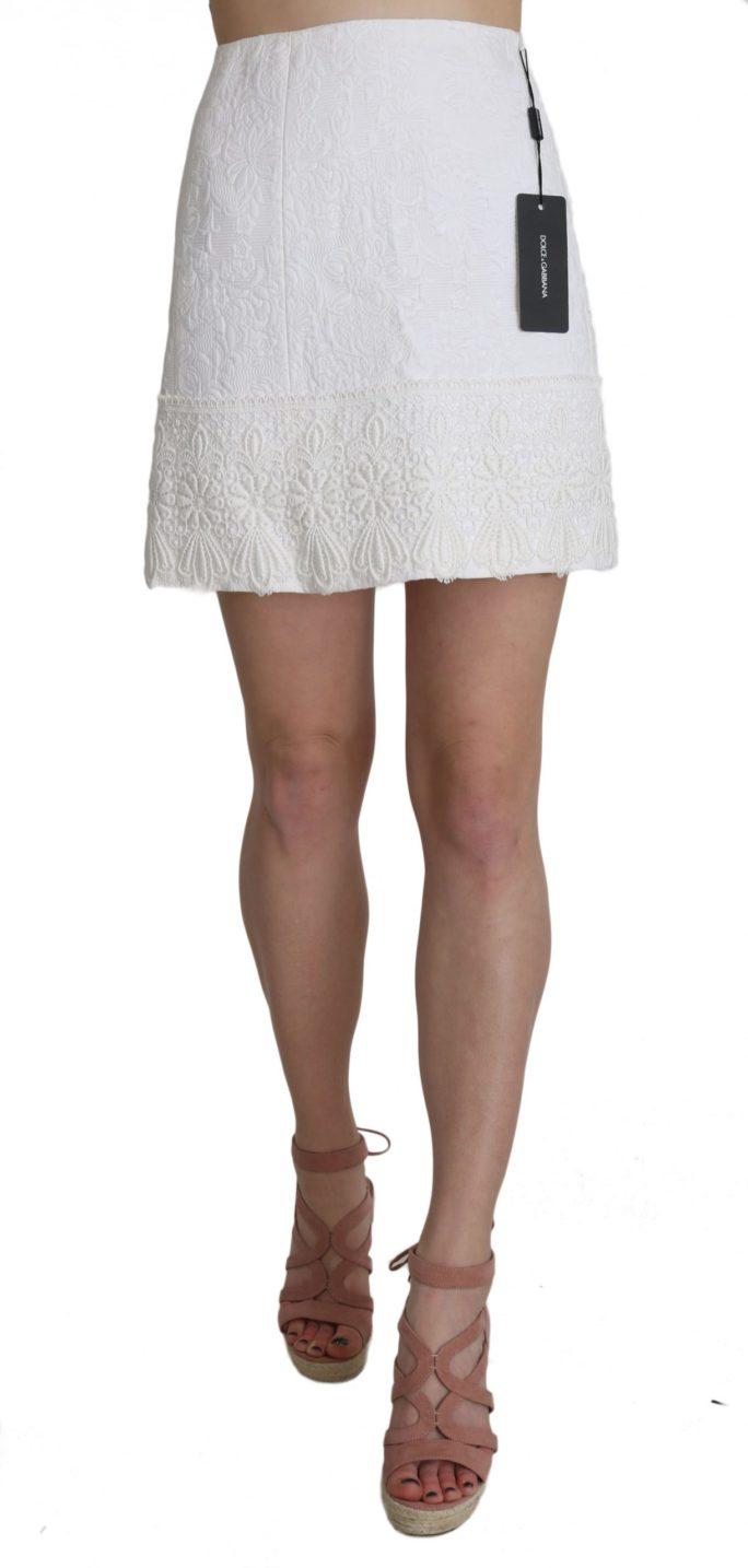 658134 White Jaquard Lace Trim Cotton Mini Skirt.jpg