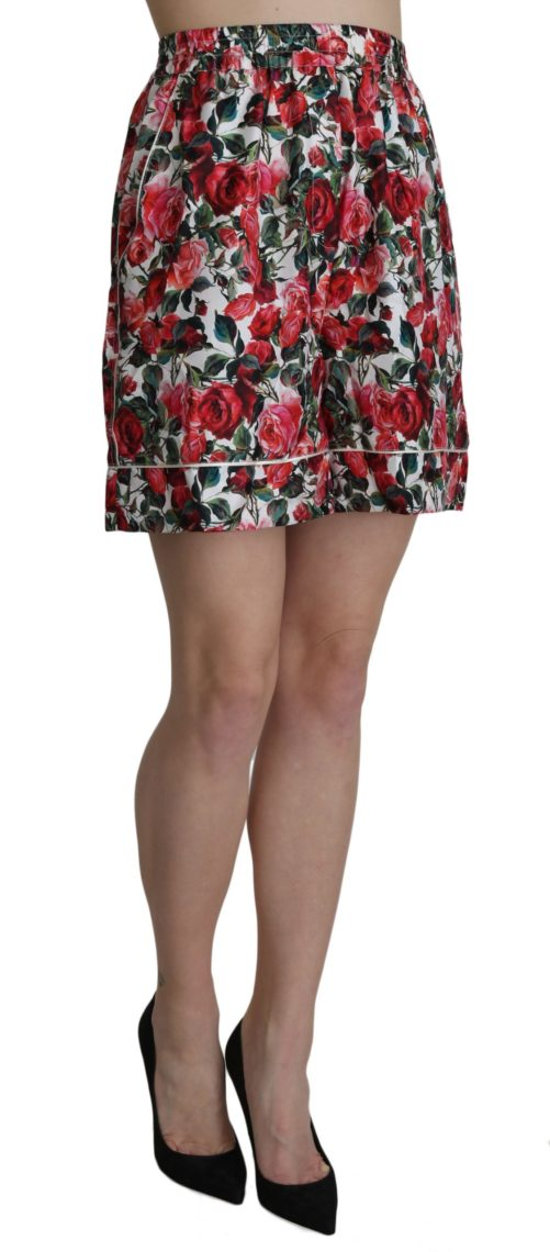 658180 Rose Print Garterized Silk Mini Shorts 1 1.jpg