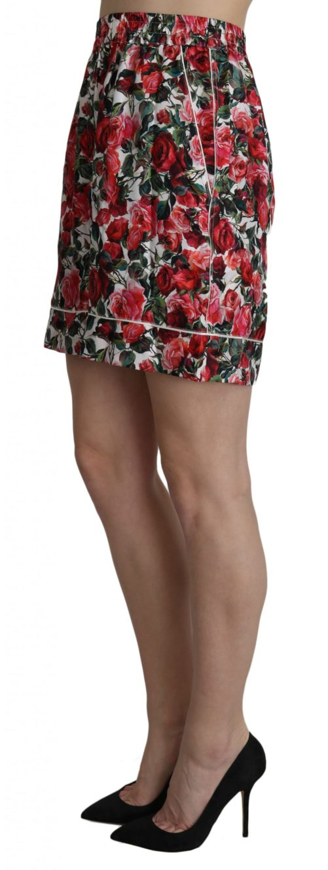 658180 Rose Print Garterized Silk Mini Shorts 2 1.jpg