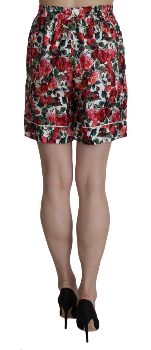 658180 Rose Print Garterized Silk Mini Shorts 3 1.jpg