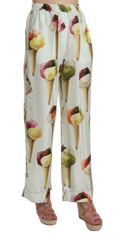658396 Ice Cream Print Wide Leg Silk Trouser Pants 3.jpg