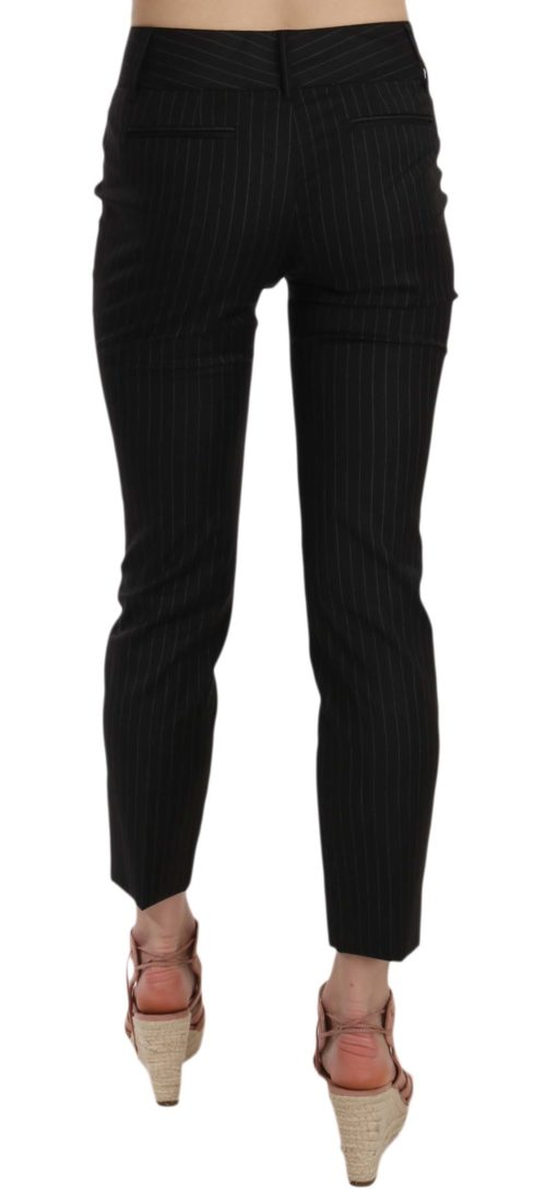 658503 Black Wool Skinny Striped Pinstripe Pants 3.jpg