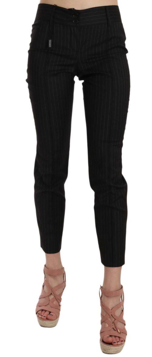 658503 Black Wool Skinny Striped Pinstripe Pants.jpg