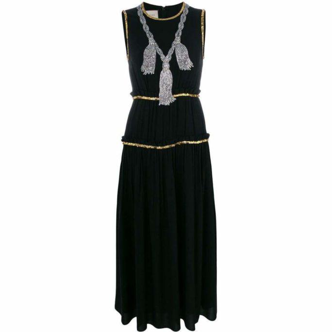 Embellished Pleated Maxi Dress It 40 20 Black Gucci Us 10 Dresses Runway Catalog Clothing Day 942 2000x.jpg