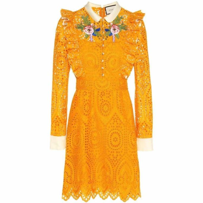 San Gallo Embroidered Broderie Anglaise Dress It44 Us10 20 Gucci Us 10 Dresses Runway Catalog Clothing Yellow 140 2000x.jpg