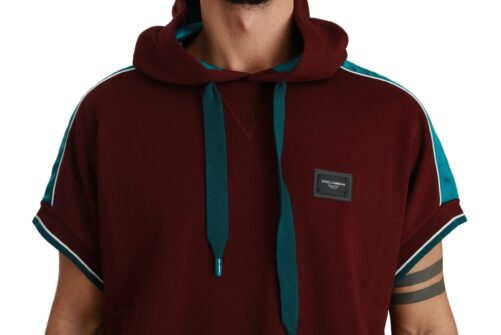 Maroon Hooded Pullover #DGMILLENNIALS Sweater, Fashion Brands Outlet