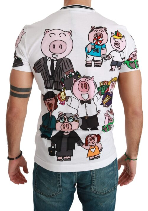 White Cotton Top 2019 Year of the Pig T-shirt, Fashion Brands Outlet