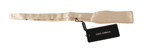 Beige Slim Skinny Men Necktie 100% Silk Tie, Fashion Brands Outlet