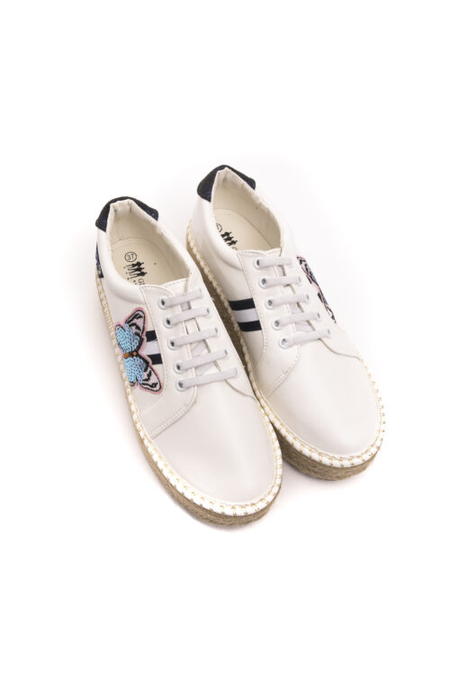 White Navy Sneakers, Fashion Brands Outlet