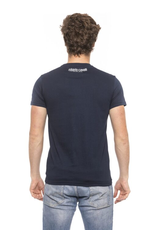 Blue Short Sleeves T-shirt. Front Logo Print., Fashion Brands Outlet