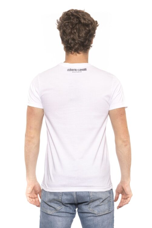 White Short Sleeves T-shirt. Front Logo Print., Fashion Brands Outlet