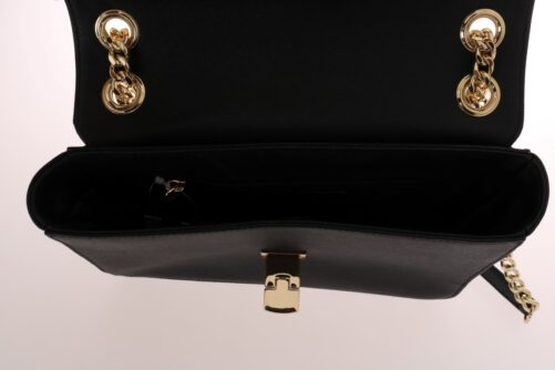 Black TINA Leather Shoulder Bag, Fashion Brands Outlet