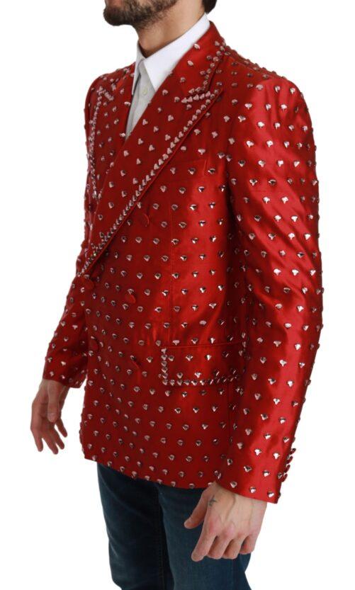 Red Silk Crystal Jacket Coat Blazer, Fashion Brands Outlet