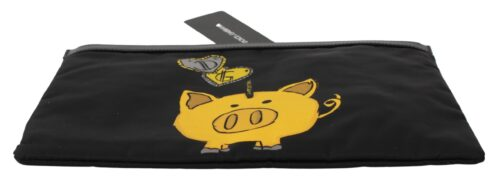 Black Pig of the Year Coin Bank Men Hand Pouch, Fashion Brands Outlet