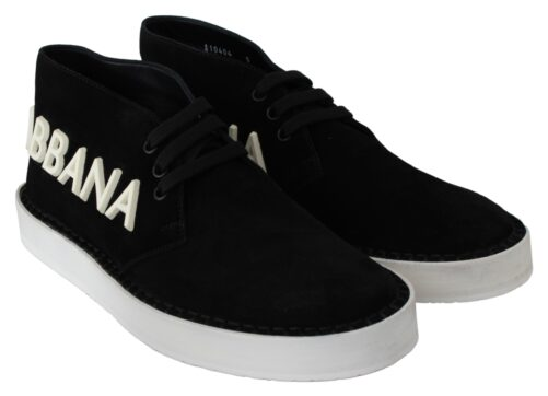 Black Leather Derby Logo Casual Sneakers Derby Shoes, Fashion Brands Outlet