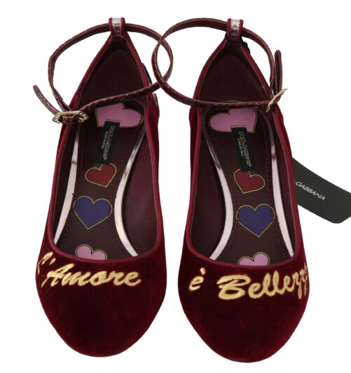 Red Velvet Pink Leather Hearts Heels Shoes, Fashion Brands Outlet