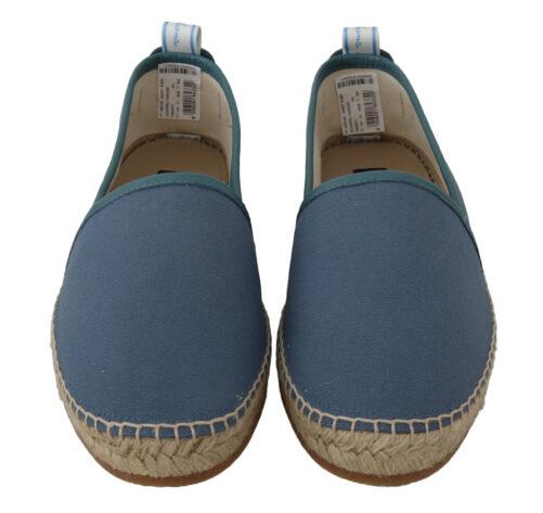 Blue Denim Flats Loafers Shoes, Fashion Brands Outlet