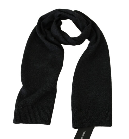 Gray Wool Mens Shawl Wrap Scarf, Fashion Brands Outlet