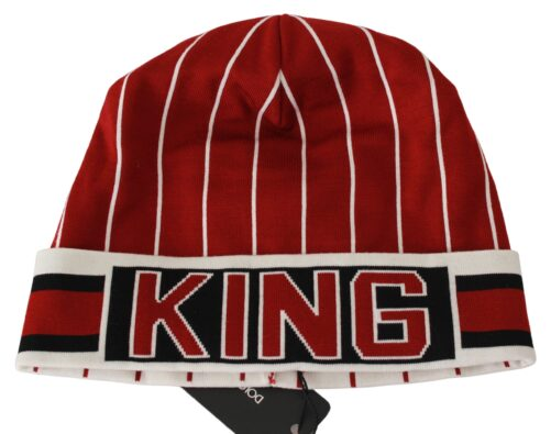 Multicolor King Beanie Virgin Wool Cap Hat, Fashion Brands Outlet
