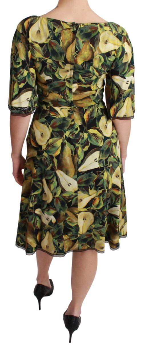 Green Pear Fruit Sheath A-line Stretch Dress, Fashion Brands Outlet