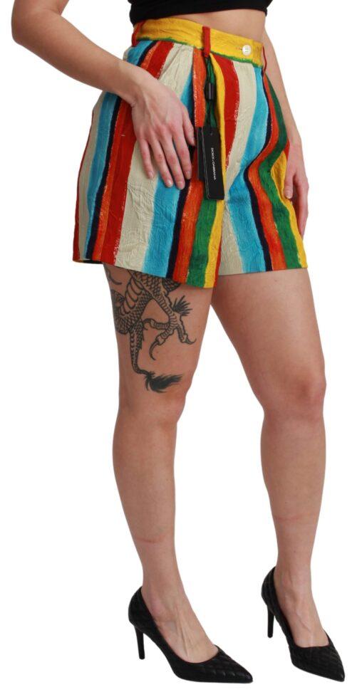 Multicolor Riga Pittorica Mini Shorts, Fashion Brands Outlet