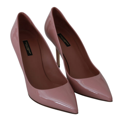 Pink Patent 100% Leather Heel Pumps, Fashion Brands Outlet